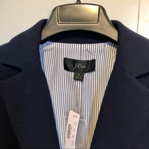 NWT j crew Mayfair navy blazer 4 pleated back